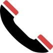 telefoon rood zwart
