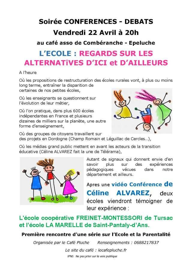 Soirée débats Ecole Café Affiche