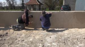 Herstel muur