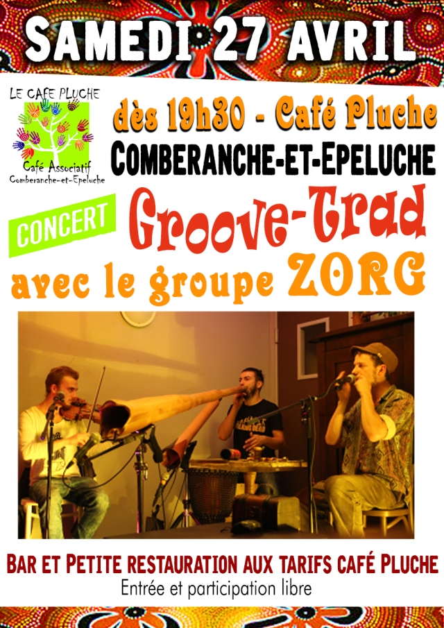 ZORG au Café Pluche - affiche web
