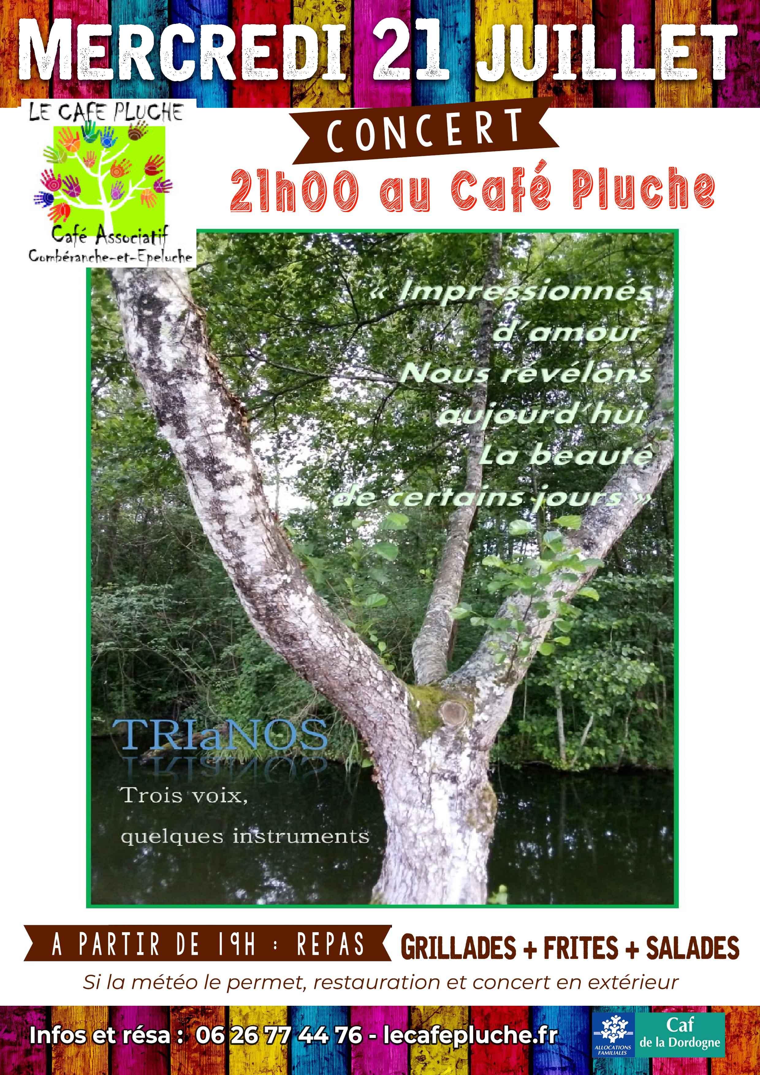 Concert TRIaNOS mercredi 21 juillet au café Pluche